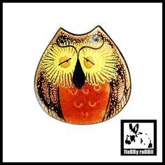 Enamel Owl Pin Enamel Owl Brooch Signed Enamel Owl Pin   Etsy Pin Enamel, Owl Jewelry, Vintage Birds, Cute Faces, Brooch Pin, I Shop, Rabbit, Great Gifts, Copper