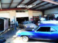 The shop at GM Sports, San Jose, CA.  #camaro #musclecar #classiccar #vintage #restoration #chevy #chevrolet