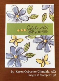 Karen Osborne, Glendale AZ, Stampin' Up!, card swap