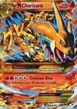 M Mega Charizard EX Pokemon Card. Ultra rare. XY FLASHFIRE 107/106 Secret  FS RP