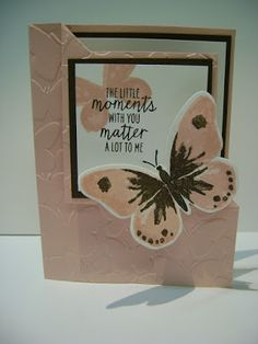 Stampin' Studio, Stampin' up! Watercolor Wings, Bold Butterfly Framelits, Corner Fold Card