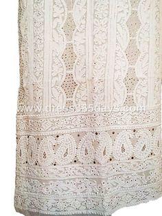 Buy Kurti Fabric with Mukaish Kamdani Work (One Piece)