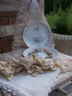 Vintage plates from Pretty Petals Boutique by sashagirl on Flickr.