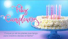 tarjetas-de-feliz-cumpleaños-cristianas-señor Happy Birthday, Birthday Cake, Birthdays, Cake Pops, Desserts, Bible Quotes, Graphics, Tinkerbell, Paper