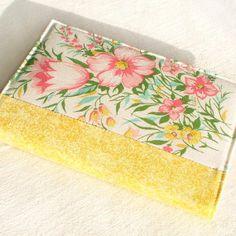 fabric journal covers | Fabric Journal Cover Yellow Spring Fabric Cover by PatchworkMill