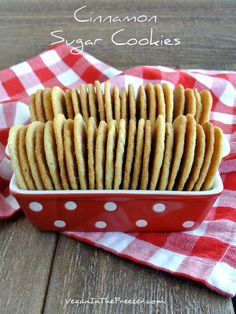 Cinnamon Sugar Cookies (vegan)