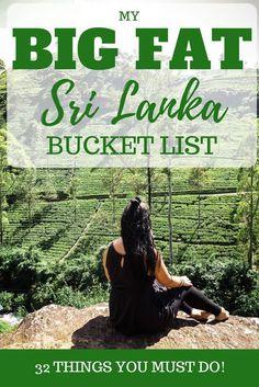 My big fat sri lanka bucket list 32 amazing things to do in sri lanka 50 important tips for traveling in sri lanka thats what she had Oahu, Third Eye, Ella Sri Lanka, Sri Lanka Surf, Sri Lanka Itinerary, Sri Lanka Holidays, Holiday Destinations, Travel Destinations, Travel Tips