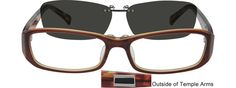 5012 Acetate Frame with Polarized Magnetic Snap-on Sunlens-csVkTuaS