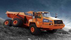 Dumper articulado MT41. Motor Scania, modelo DV12, 15 L, 6 cilindros,diesel de inyeción directa con turbo compresor e intercooler aire-aire. Potencia de 331 KW a 2200 rpm, par máximo 1.854 Nm a 1.200 rpm. Caja Hardox 400. Tracción permanente 6x6 con diferenciales transversales y longitudinal. Frenos disco múltiple Humedos delanteros y traseros. 6 Velocidades avance hasta 53 km y 3 reversa hasta 34 Km/h. Capacidad carga de 21m3 y 37.2 Ton. Regulacion emisiones TIER 3 de USA. Radio giro de 8.8…