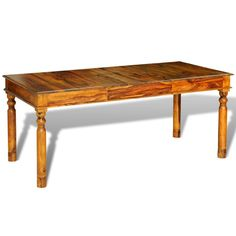This sheesham solid wood dining table is both stylish and practical. This sheesham table is made of solid wood. Sheesham is a tropical hardwood that is famous for its rich grains and also known as rosewood or palisander. Retro Dining Table, Wooden Dining Tables, Solid Wood Dining Table, Extendable Dining Table, Mesa Colonial, Home Furniture, Dining Furniture, Luxury Furniture, Wood Sizes