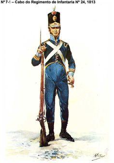 Fuciliere portoghese Empire, Marina Real, Army Uniform, Military Uniforms, Combat Gear, Napoleonic Wars, American Civil War, Military History, 19th Century