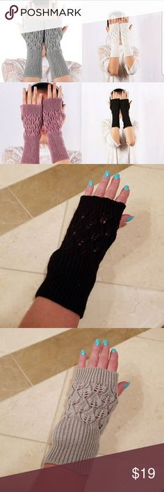❤ FINGERLESS GLOVES ❤ FINGERLESS MITTEN GLOVES  ONE BLACK  ONE GREY ONE KAHKI   PRICE IS FOR ONE PAIR  JUST LET ME KNOW WHAT COLOR YOU WOULD LIKE! Accessories Gloves & Mittens