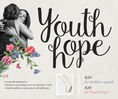 Give a gift that gives back this season! YouthHope fundraiser necklaces on sale now at nectarclothing.com