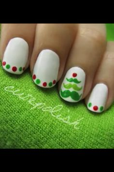This mustache nail art was created with 3 size nail dotting tools for the tree, and 2 small size dotting tools in red and green.   ⓒⓞⓜⓜⓔⓝⓣ   ⓐⓝⓓ   ⓡⓔⓠⓤⓔⓢⓣ   ℓᎥƘƎ   Ꭵƒ   У⚙υ   ƎИʝ⚙УƎᎠ   ✞ℍᎥƧ   ƤᎥИ          I DO NOT OWN THIS PICTURE