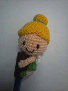 This Tinkerbell Pencil Topper is a great way to stop your kids from nibbling on their pens. The pattern uses US terms and is worked in continuous rounds. It is made with 3-ply crochet cotton thread and 5 mm (size H-8) hook. The pattern includes written instructions as well as photos, and is 7 pages long.
