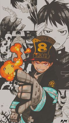 Anyone else into fire force - iFunny :) Otaku Anime, Manga Anime, Madara Wallpapers, Animes Wallpapers, Fanarts Anime, Anime Characters, Cute Anime Wallpaper, Iphone Wallpaper, Shinra Kusakabe