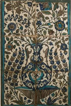 Tile Panel, Date: 16th–17th century Geography: Syria