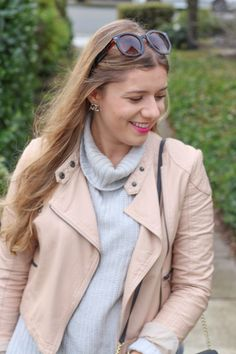 free people pink faux leather moto jacket