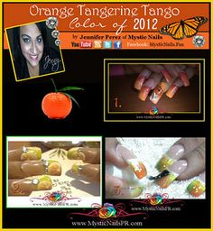 This years color of 2012 is a vibrant orange! Can't wait to get energized!!!    #colors #color of 2012 #orange tangerine tango #vibrant colors #nails #mystic