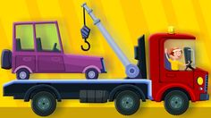 the tow truck song   original song   nursery rhymes   kids rhymes   learn transport