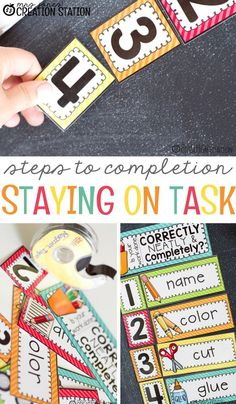 Do you have to repeat yourself on a daily basis to your students? As teachers, we all repeat instructions daily. This free printable Steps to Completion . . . Helping Learners Stay on Task will help with your students staying on track. #freeprintable #free #stepstocompletion #stayontask #classroomtips #classroomhelps #mrsjonescreationstation