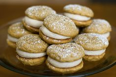 Pumpkin Sandwich Cookies - made these tonight. Delish. Added 3 tsp of pureed pumpkin to the frosting. Yum.
