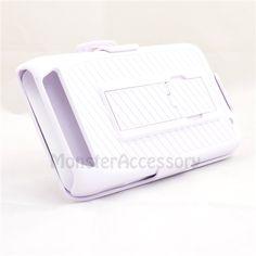 $13.95 > 10% Coupon Code : Pinthis White Kickstand Holster Combo Hard Case Snap on Cover For Motorola Atrix 3 HD Dinara MB886
