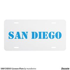 SAN DIEGO License Plate