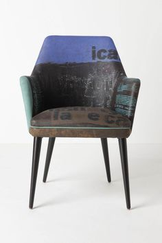 A fun way to add a little character to a room. Typeface chair from Antropolgie.