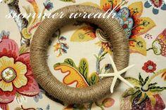 a summer wreath {tutorial}