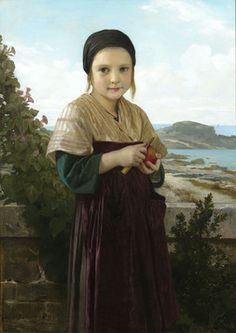 William Adolph Bouguereau1825-1905 · FrenchJeannieSigned and dated W. Bouguereau 1868, lower leftOil on canvasThis outstanding painting is the work of William Adolphe Bouguereau, unquestionably one of history's greatest artistic geniuses, as well as one of the most decorated artists of all time. This portrait of a young girl peeling an apple, looking at the viewer with a wistful smile, beautifully demonstrates the master's genius for human ...