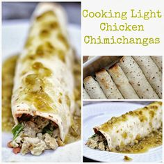 Cooking Light Chicken Chimichangas - quick, easy, healthy, light, DELICIOUS