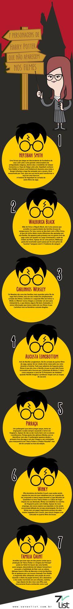 Personagens de Harry Potter que não aparecem nos filmes.