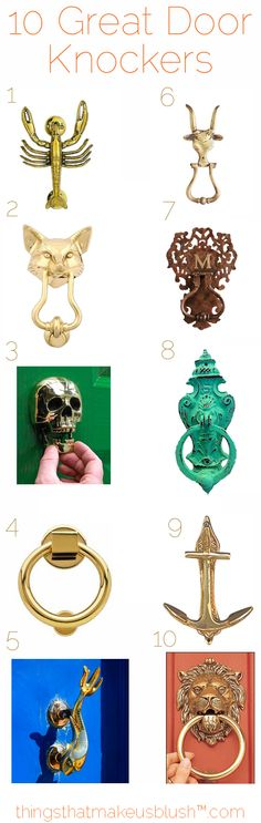 Who Doesn't Love Great Knockers?? ...Door knockers, that is.