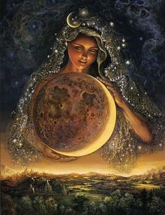 Josephine Wall-- Mother Moon <3
