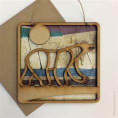 Polar Bear - Greeting Card/Wall Art by Shirley Lloyd-Davies, Dundee Designs Inc. Dundee, Customizable Gifts, Poly Bags, Kraft Envelopes, Polar Bear, Note Cards, Greeting Cards, Wall Art, Design