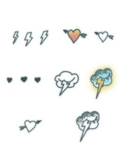 Thunder Love Set-REALISTIC TEMPORARY TATTOOS FAKE TATTOOS THAT LOOK LIKE THE REAL THING!