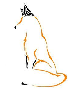 Like the two colors Body Art Tattoos, Tatoos, Fox Tattoos, Tribal Fox, Fuchs Tattoo, Fox Logo, Fox Art, Red Fox, Art Plastique