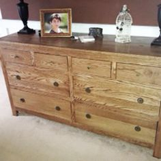 Free DIY Furniture Plans to Build Pottery Barn Inspired Dawson Extra Wide Dresser via www.thedesignconf… Free DIY Furniture Plans to B Outdoor Furniture Plans, Woodworking Furniture Plans, Wood Furniture, Furniture Design, Bedroom Furniture, Diy Bedroom, Woodworking Projects, Trendy Bedroom, Wood Projects