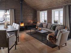 No photo description available. Chalet Interior, Interior Exterior, Interior Design, Cabin Homes, Log Homes, Chalet Design, House Design, Log Home Interiors, Modern Kitchen Design
