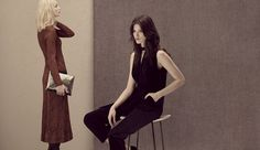 Knitted dresses in rusty hues, metallic bags and chic, elegant tailoring are…