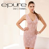 Brand: Epure - Dentelle Etoiles, stunning Calais Leavers lace available now in blush or grey. Book your appointment with them today: http://www.curvexpo.com