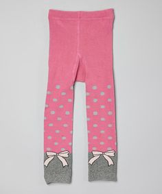 Look what I found on #zulily! Pink Dots & Bows Leggings - Infant, Toddler & Girls #zulilyfinds