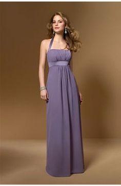 Purple Halter Empire Waist Sheath Homecoming Dress - OuterInner.com