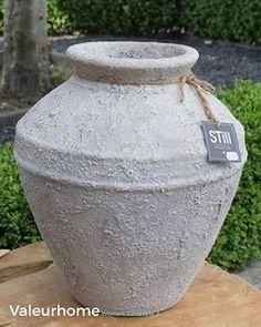 Still Vase Straight Volcano Grey L Maten: H40xD39cm