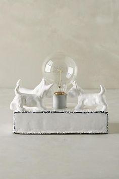 Ceramic Dog Lamp Base