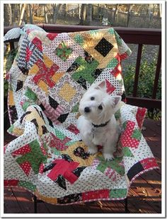 Polly's cute Christmas quilt