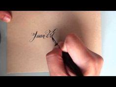 caligrafia el caligrafo - copperplate inglesa con pluma - YouTube