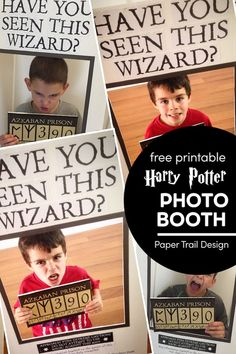 Make a DIY Harry Potter have you seen this wizard poster for cheap and in just a few minutes with our free printable have you seen this wizard poster. Harry Potter Wizard, Harry Potter Birthday, Harry Potter Diy, School Holiday Activities, Harry Potter Printables, Diy Photo Booth, Party Printables, Free Printables, Birthday Party Themes