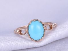 Genuine Turquoise Gemstone Silver Princess Cut Rings For Girls Bezel Setting Fine Jewelry